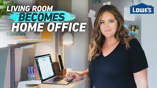Transform Your Living Room Into A Home Office | Home Becomes (Ep 1)