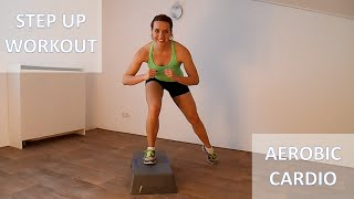 20 Minute Full Body Steps Workout – Calorie Burning Step Up Cardio Training Routine by FitnessType