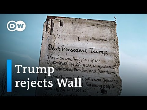 Berliners try so send Donald Trump a piece of the Berlin wall | DW News