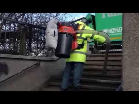 Sırt tipi portatif vakumlu yaprak ve çöp toplama makinası-Overton HV 75