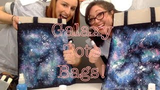 DIY Galaxy Print Tote Bag Tutorial!