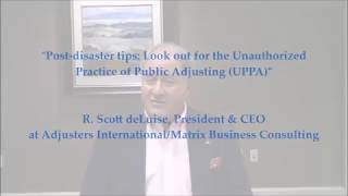 Post-Disaster Tips: Look out for the Unauthorized Practice of Public Adjusting (UPPA) Thumbnail Image