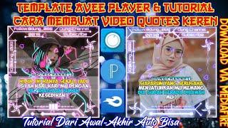 Template Avee Player & Tutorial Cara Membuat Video Quotes | Keren | Kumpulan | Line Art | Tutorial