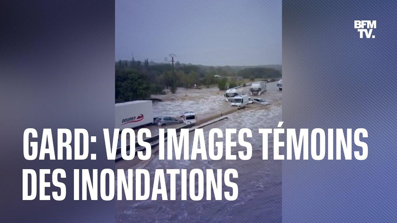 Vos images témoins des impressionnantes inondations dans le Gard
