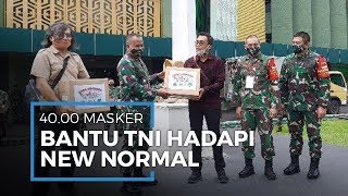 Bantu TNI Hadapi New Normal, Tribunnews dan Cardinal Donasikan 40.000 Masker Kain