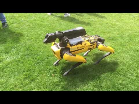 Boston Dynamic robot dog at MARS 2018