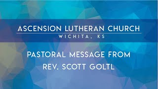 Coming this Fall - A message from Pastor G.