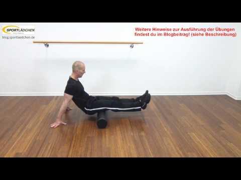 Faszien Übungen mit der Oliver Faszienrolle