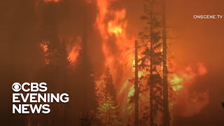 California's Creek Fire forces evacuations and burns thousands of acres