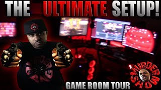 NEW SETUP VIDEO! 😈 Game Room Tour | Best Streaming Setup for YouTube!