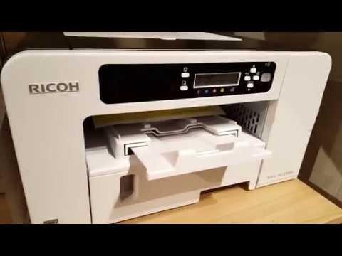 Testdruck Farbe / Test color printing Ricoh SG 2100N 2100 N