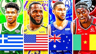 RANKING THE BEST NBA PLAYER FROM EACH COUNTRY IN 2020! (LeBron James, Giannis Antetokounmpo)