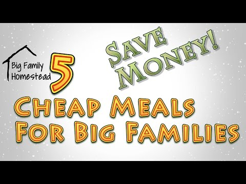 Video Cheap Meals For Big Families Easy Delicious and Kid Friendly
