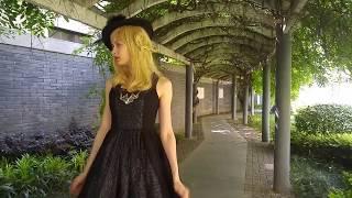 Vintage Retro Fashion Midi Dress Chiffon Black Dress Ladies Summer Prom Dress