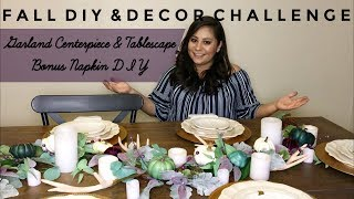 Fall Table Garland Centerpiece / Fall DIY & Decor Challenge