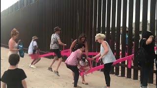 Арт-объекты, которые делают людей ближе: на границе США и Мексики установили качели