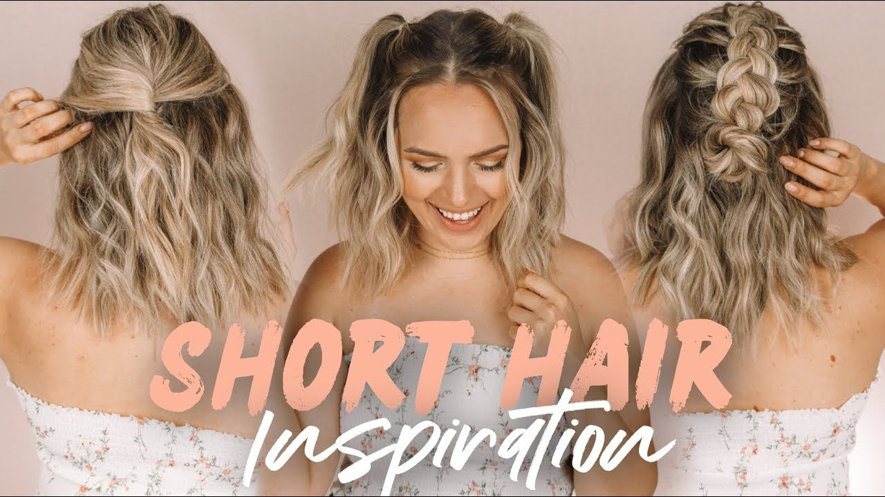 Easy Short Hairstyles And Beach Waves Kayleymelissa