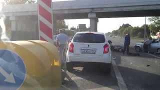 Смотреть онлайн Большое происшествие из-за собаки на дороге