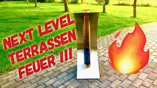 TERRASSENFEUER OHNE RAUCH UND FUNKEN - Test Feuersegel --- Klaus grillt