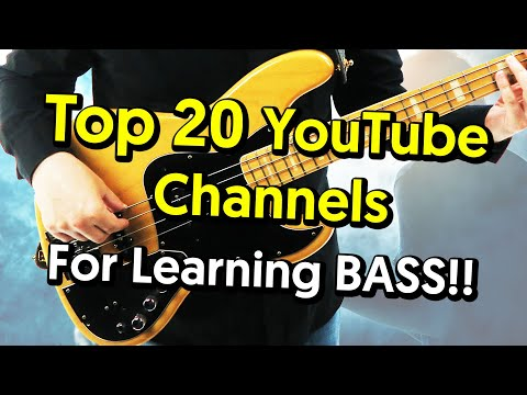 Top 20 Youtube Channels For Learning Bass Guitar!