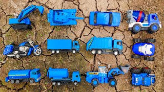 Compilation of blue toy cars found - Kid Studio