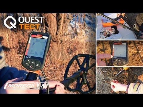 Quest Q40/ Комплектация, экспресс-обзор, поиск на пляже