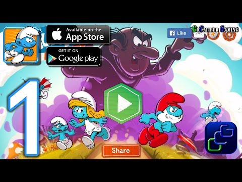 The SMURFS Epic Run Android iOS Walkthrough - Gameplay Part 1 - Stage 1-7