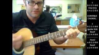 """How to play """"Everything Falls Apart"""" by Dog's Eye View on acoustic guitar"""