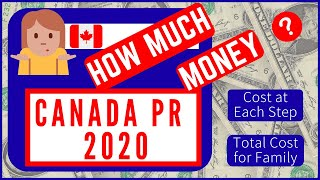 Total Cost to apply CANADA PR in 2020