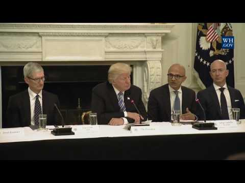 President Trump Participates in an American Technology Council Roundtable 6/19/17