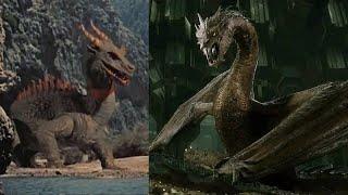 Эволюция драконов в кино! 1958 -2016 г.