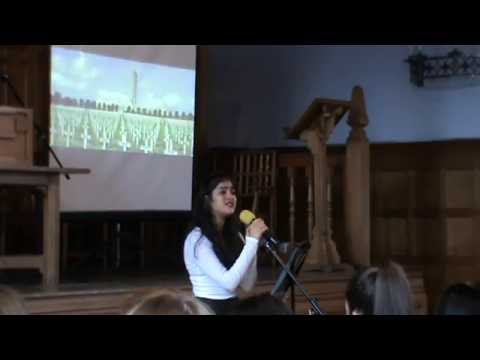 Battle of the Somme Commemoration Assembly - Broken Blossoms