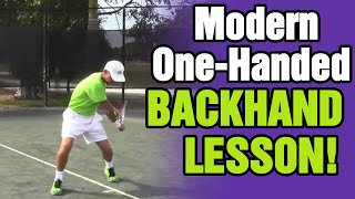 Tennis Backhand - Modern One-Handed Backhand Lesson