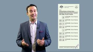 How voting preferences work in an Australian federal election