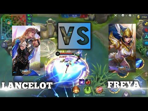 LANCELOT VS FREYA - FULL BUILD LV 15 || FASH KILL - MOBILE LEGEND INDONESIA