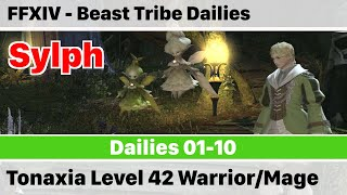FFXIV Daily Quests - Beast Tribe Sylphs - Tonaxia Level 42 - A Realm Reborn
