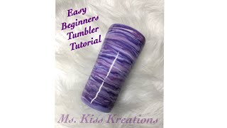 Easy beginners Tumbler with acrylic paint