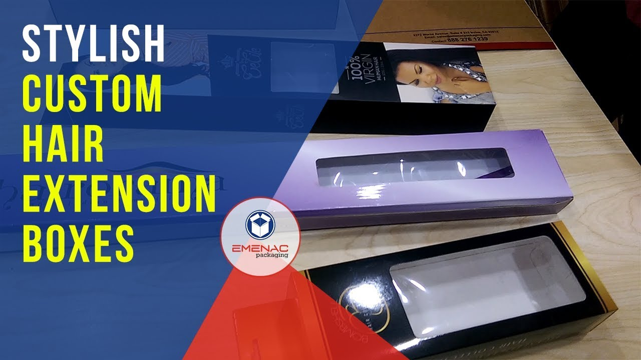 Custom Hair Extension Boxes with Best Designs and Styles. Emenac Packaging