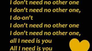 Taio Cruz- No Other One [[lyrics]]!