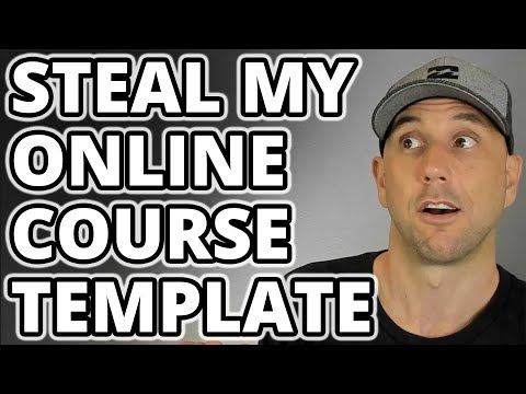 Create Your Online Course Template - Swipe My Proven Process For Creating Great Online Courses!