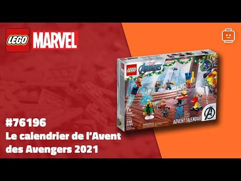 Vidéo LEGO Marvel 76196 : Le calendrier de l'Avent des Avengers 2021