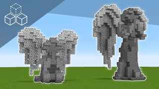 How To Build Praying Angel Statues | Minecraft Tutorial