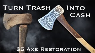Turning Trash into CASH!!! $5 Rusty Axe Restoration