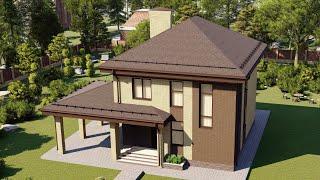 Проект дома 131-A, Площадь дома: 131 м2, Размер дома:  9,2x10,5 м