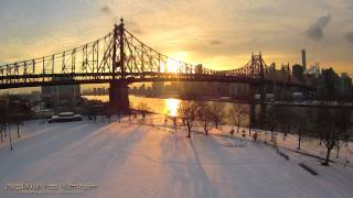 preview picture of video 'Yuneec Q500 Typhoon Flies in New York City Sunset over the East River!!!!!!'
