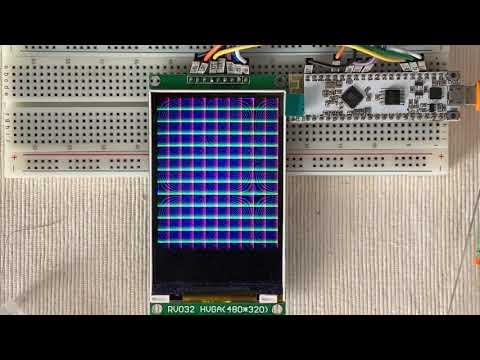 Arduino_GFX HX8357B 320x480 9-bit HWSPI