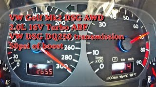 Boba VW Golf Mk2 DSG AWD Brutal Acceleration 2018