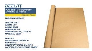 Pure Cork Underlayment – .04