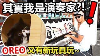 美妙的鋼琴聲!原來我是大演奏家?!ft. OREO終於又有新玩具