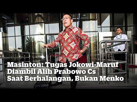 Masinton: Tugas Jokowi-Maruf Diambil Alih Prabowo Cs Saat Berhalangan, Bukan Menko